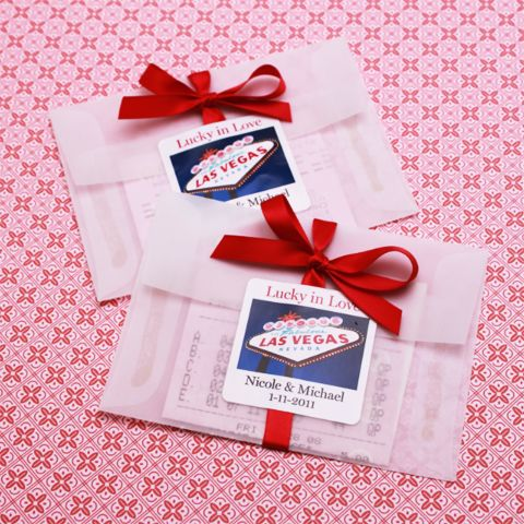 Lottery Ticket Wedding Favor Holder - Pack of 25 - Las Vegas Wedding Favors - Themed Wedding Favors - Destination Wedding Favors 25/$9.00