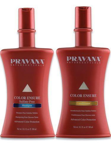 Pravana Color Ensure shampoo y acondicionador.Shampoo para proteger el color de tu cabello. Permite sellar y mantener por más tiempo y más vibrante tu cabello, dejándolo con gran brillo. www.pravanamexico.com
