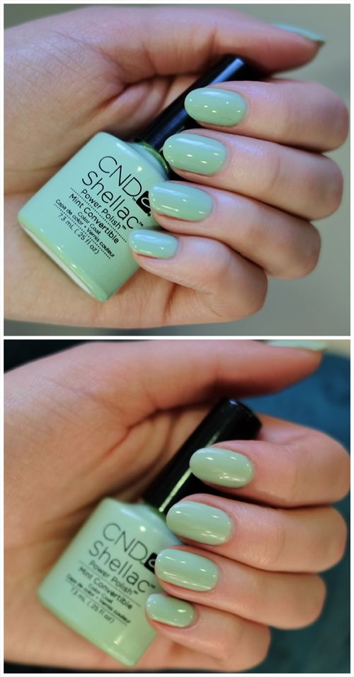 Wiosna na paznokciach czyli CND Shellac Mint Convertible