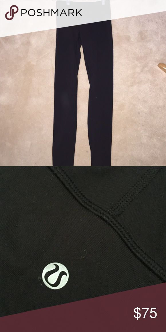 Bran new lulu lemon leggings never worn Brand new all black reversible lulu lemon leggings lululemon athletica Pants Leggings