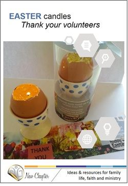 87 best leadervolunteer appreciation gifts images on pinterest easter egg candle gift for volunteers negle Image collections