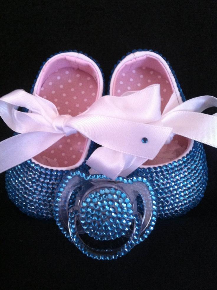baby christening swarovski package. $125.00, via Etsy.
