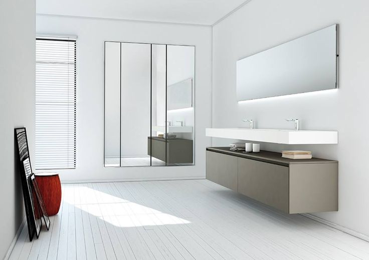 Modular Storage, Stylish Sink, Neutral Color Palette In This Contemporary Bathroom Gives You Spa Like Ambience
