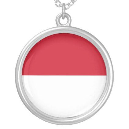 Indonesia Flag Silver Plated Necklace - jewelry jewellery unique special diy gift present