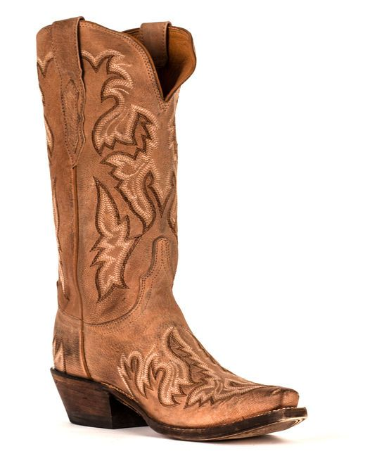 This unique Lucchese tan boot w/ vanilla stitching is perfect for weddings, a night on the town or a day out in the country! http://www.countryoutfitter.com/products/29854-womens-tumbled-saffia-boot #cowgirlboots