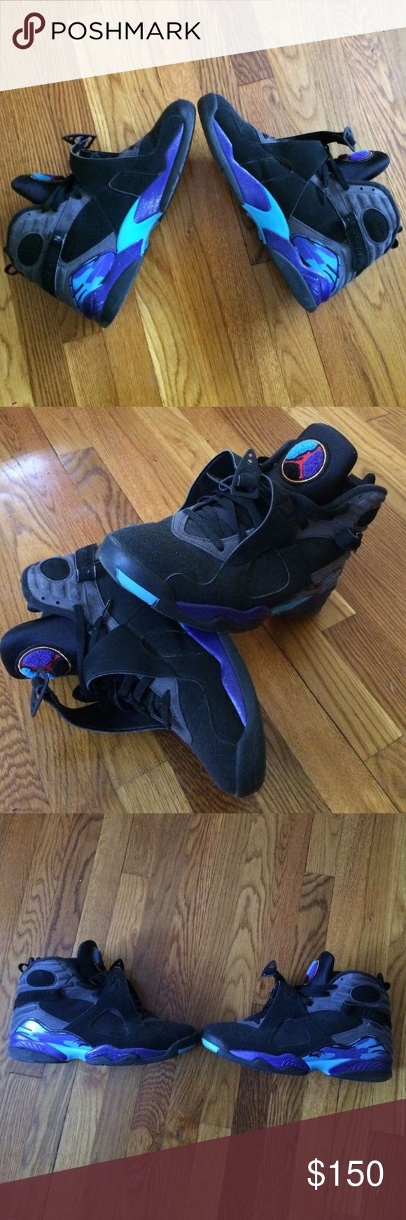 Air Jordan VIII 8 Aquas Retro Air Jordan Retro Size 12 Jordan Shoes Athletic Shoes