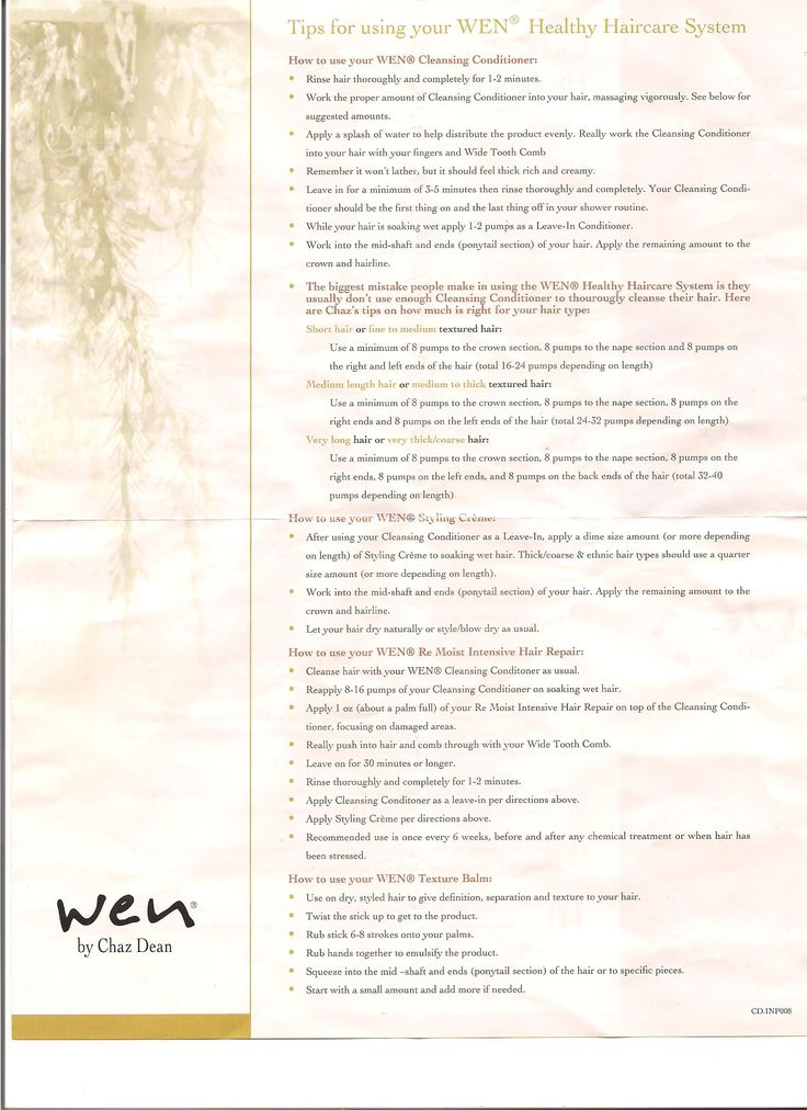 Wen Hair Types and Instructions. Can't wait to get my Wen products! Hello natural, sexy hair!!!