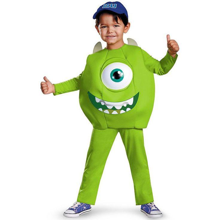 Disney / Pixar Monsters University Mike Deluxe Costume - Toddler/Kids, Kids Unisex, Size: Small, Green