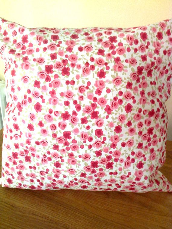 Pink rose pillow cover Pink pillow cover Pink floral cushion cover Red rose pillow cover Pink ditsy pillow cover Rose pillow cover