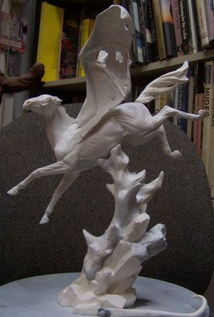 Kitty Cantrell - resin model horses Nightmare, unpainted. Wow! A stunner! Limited to 40 pieces. $275