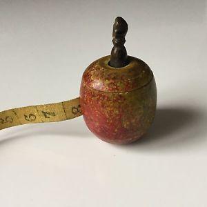 Mètre Miniature Couturière Pomme Bois Napoleon III XIXè VICTORIAN Sewing Meter | eBay