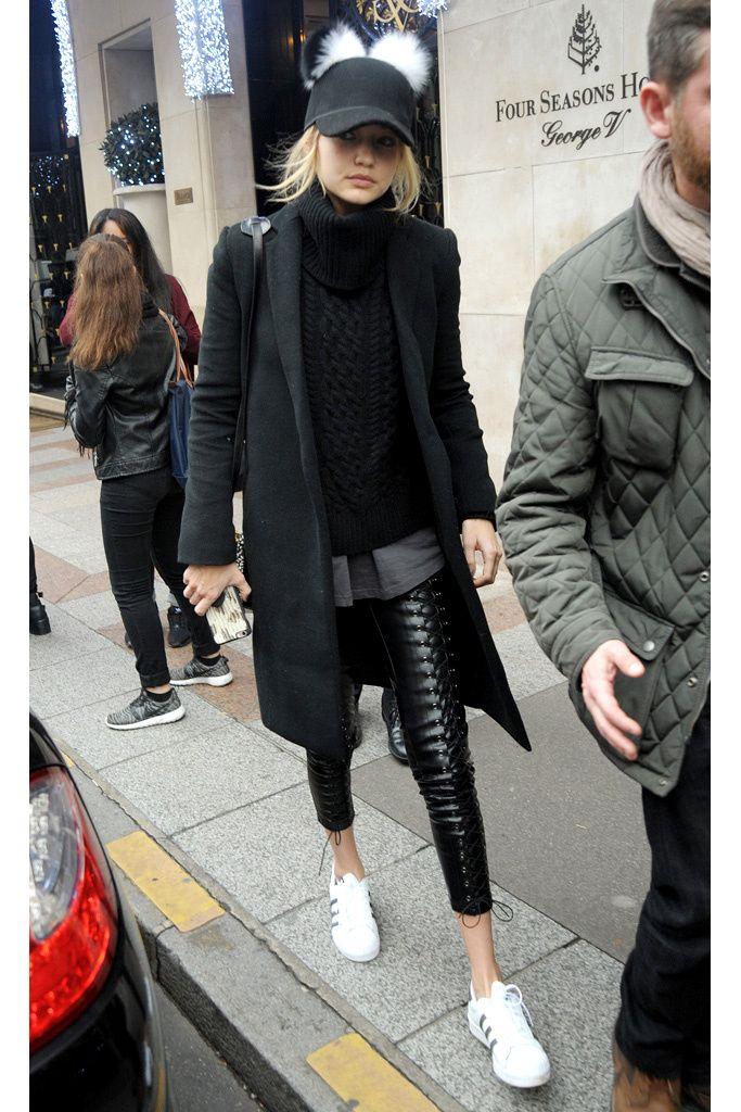 Black | Street Style | Gigi Hadid