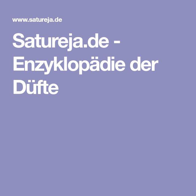Satureja.de - Enzyklopädie der Düfte