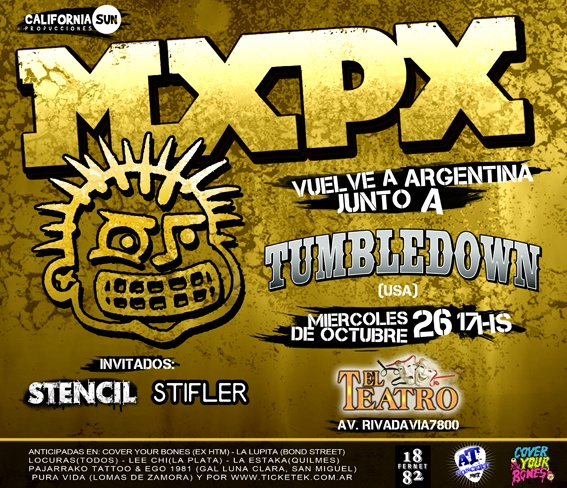 26 de Octubre, 2011. El reencuentro con MXPX. No se comparó con el 2006.