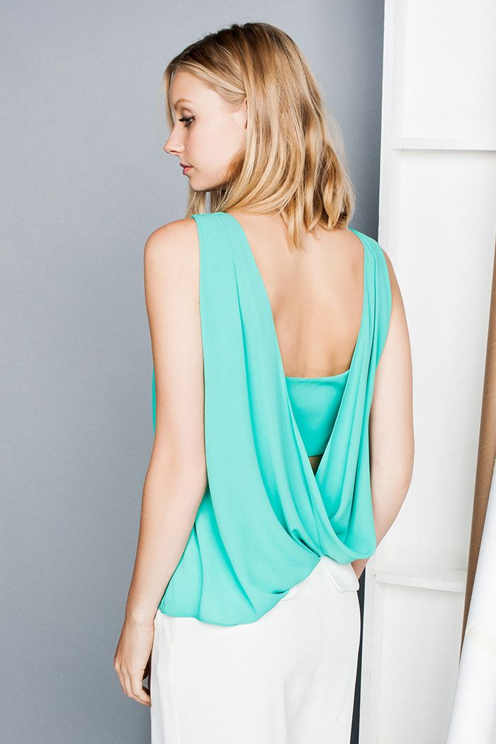 Soft Georgette Drape Back Top