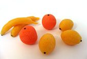 Marzipan Fruits Recipe - Oranges, Lemons and Bananas