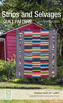 Jennifer Sampou –– Stitch a scrap-friendly quilt and pillow inspired by Jennifer Sampou's travels to Thailand. The best-selling fabric designer pairs paper-pieced and appliquéd motifs with a bac