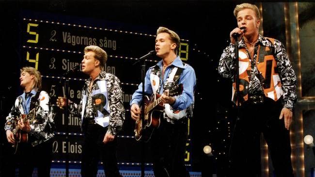 """Arvingarna fick högsta poäng för sin """"Eloise"""" och vann Melodifestivalen 1994."""