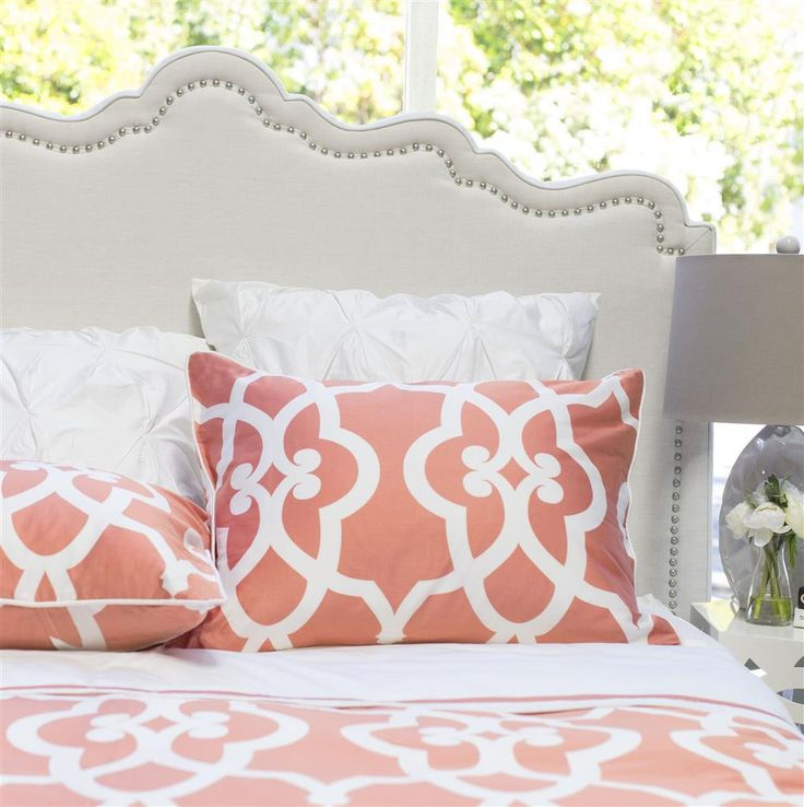 #3015 Pacific Coral Duvet Cover & Shams YOU PAY 1/2 DOWN
