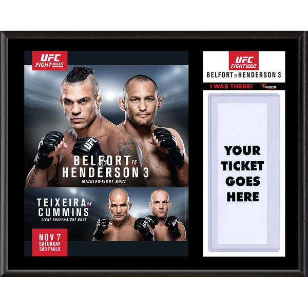 Fanatics Authentic UFC Fight Night Dan Henderson vs. Vitor Belfort Dueling ''I Was There'' 12'' x 15'' Sublimated Plaque - $39.99