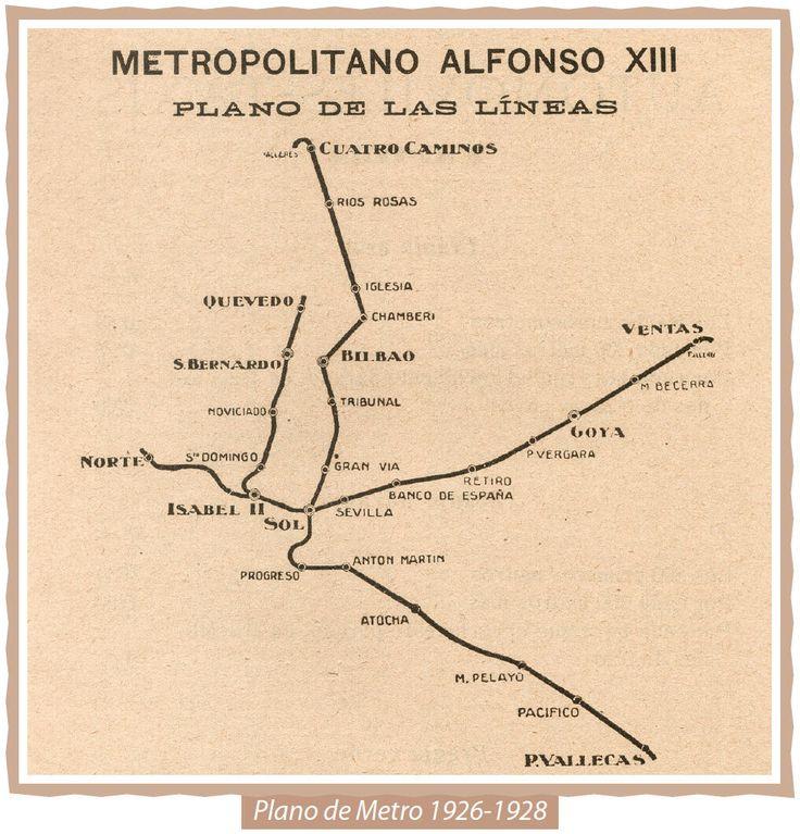 Plano de Metro de Madrid (1926-1928)
