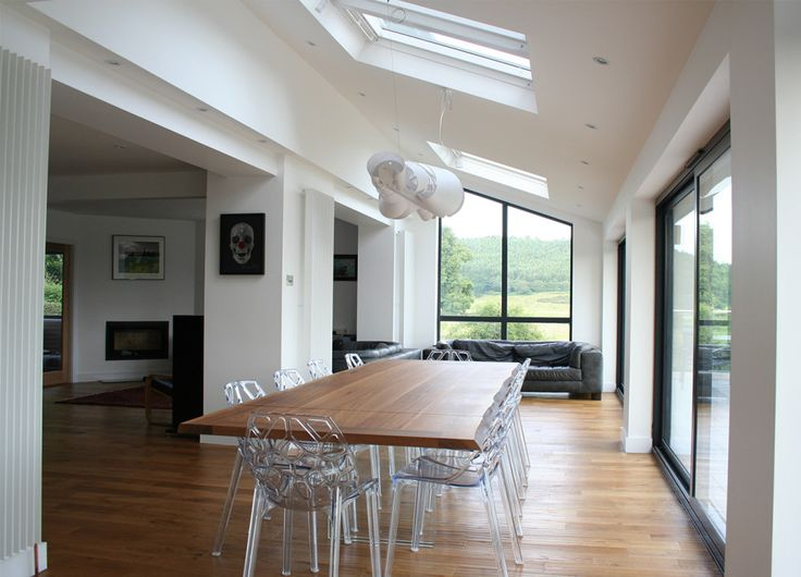 Living Room Extensions Interior Best Like The Feeling Of Light And The Sloping Window At The End . Decorating Inspiration
