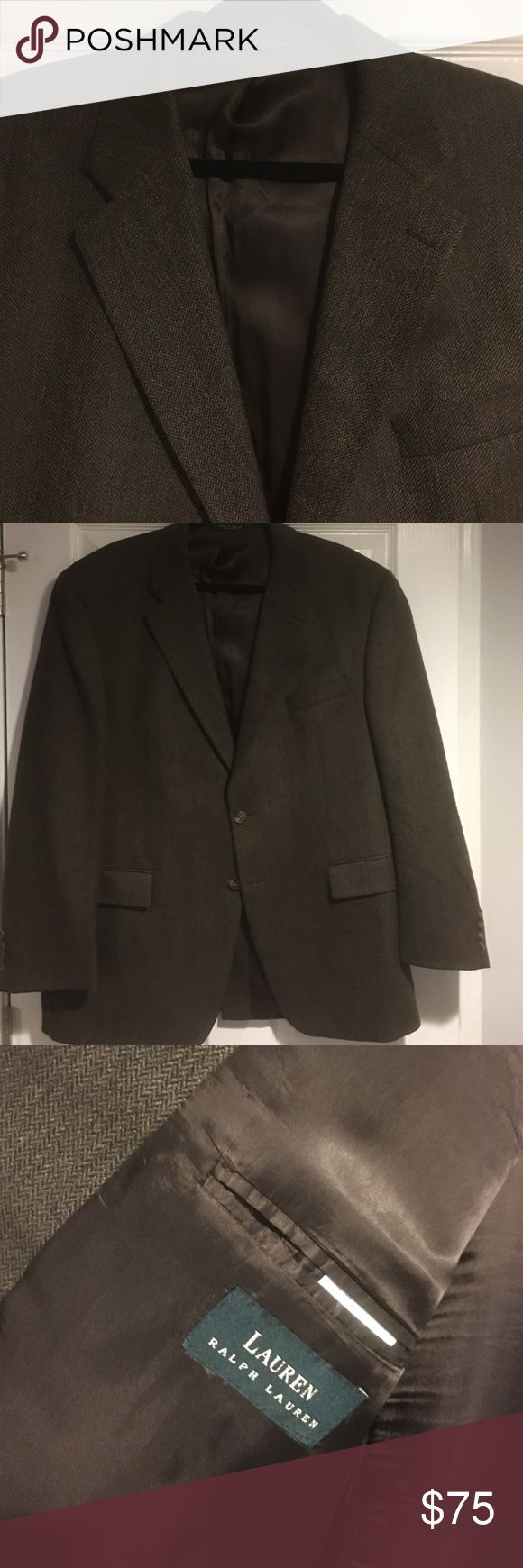 *Suit Sale* Lauren by RL 46R Brown sports jacket Made in Canada. High end. Great quality Lauren Ralph Lauren Suits & Blazers Sport Coats & Blazers