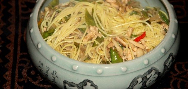 Чоу мейн (Chow mein) по-панамски