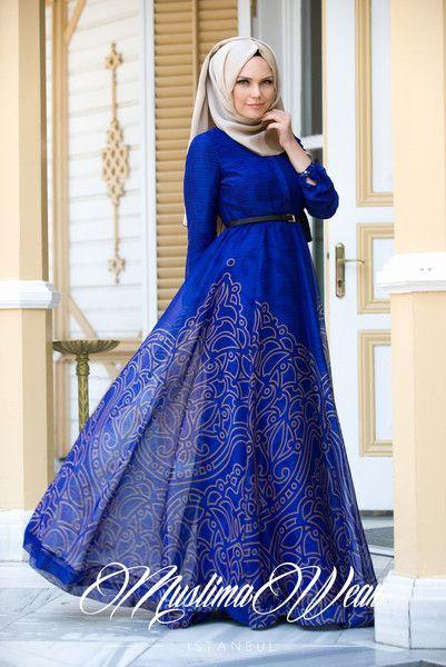 Magic blue Chiffon Dress