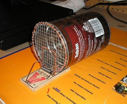 Home Made Live Mouse Trap Gardens And Gardening
