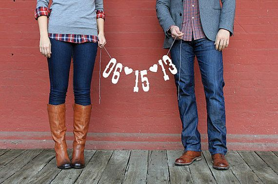 Hey, I found this really awesome Etsy listing at http://www.etsy.com/listing/160680934/save-the-date-banner-engagement-photo