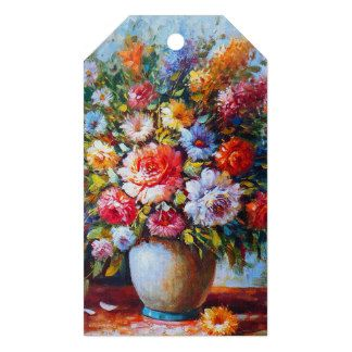 Vintage Floral Bright Country Flowers Painting Gift Tags