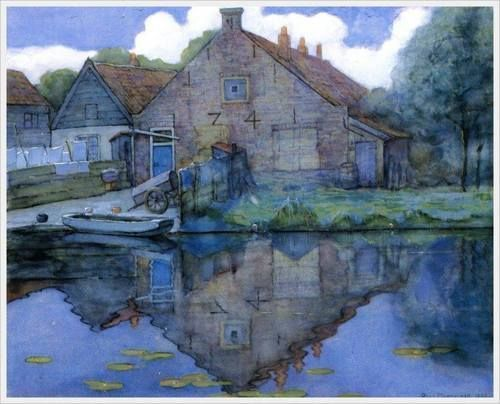 House in the Gein. Piet Mondrian (1900). - Pictify - your social art network