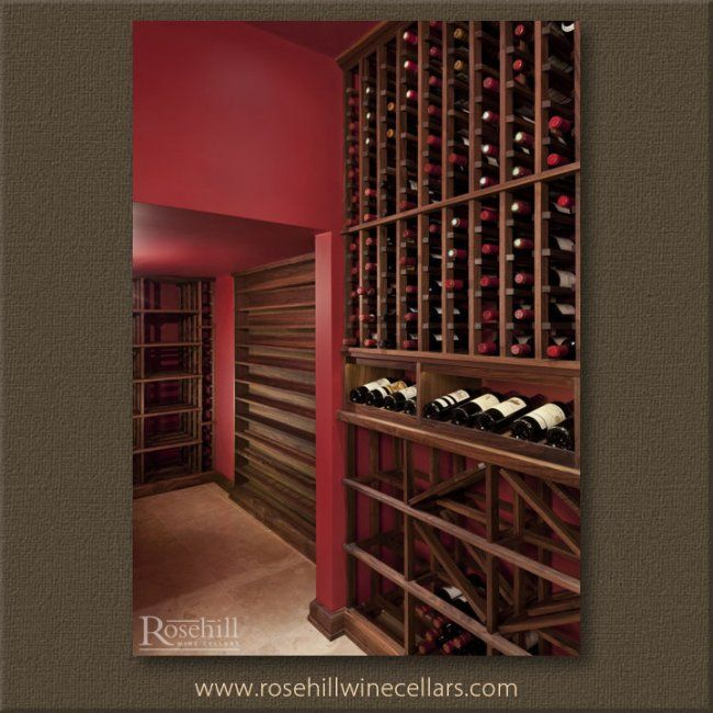 Walnut Wine Racks In A Custom Wine Cellar Add The Perfect Touch Of