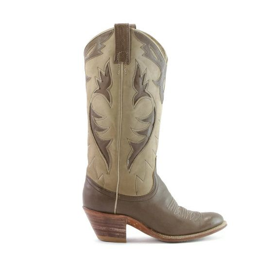 Inlay Outlaws Cafe Au Lait Suede & Hot Chocolate by GrannysBootery, $72.00