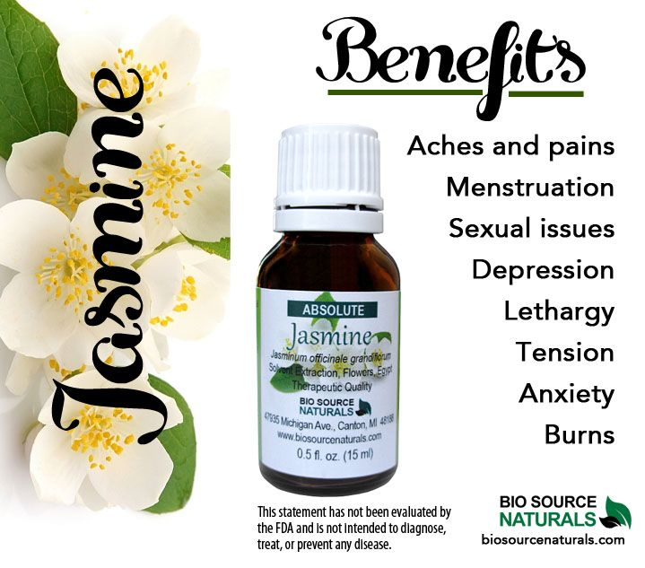 Jasmine Essential Oil is relaxing, intoxicating, warming, and great for sleep. This aphrodisiac helps emotionally with anger, jealousy, and disappointment. Great in a diffuser.  #aromatherapy