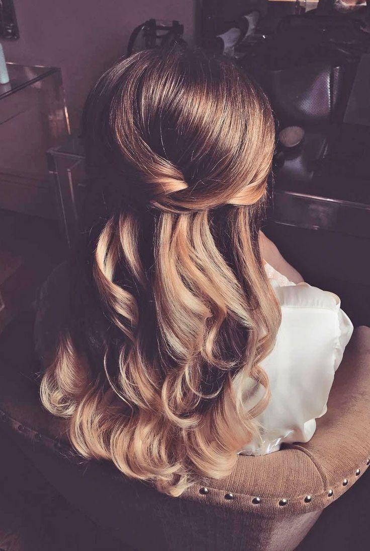 44 Gorgeous Half Up Half Down Hairstyles #weddinghairstyles