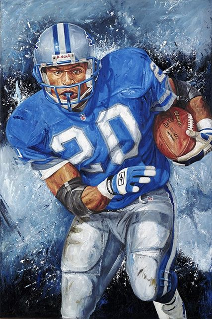 Detroit Lions, Barry Sanders by Justyn Farano