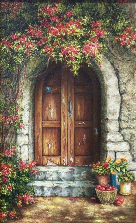ART FINE ~ The Garden Door
