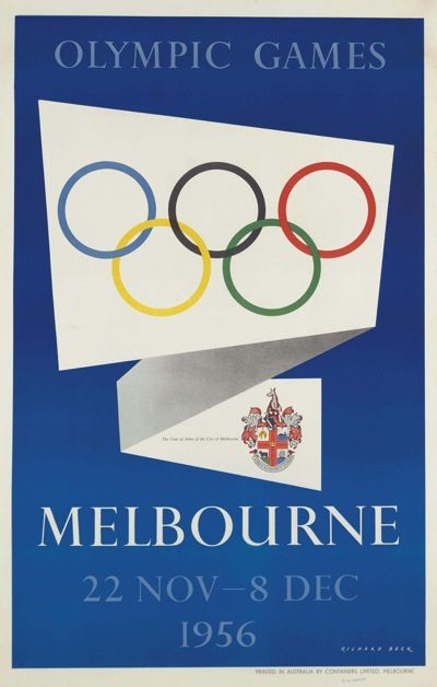 1956 Olympic poster - by Richard Beck