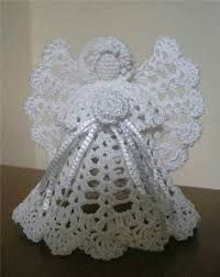 картинки по запросу Crochet Angel Ornament Pattern Free Kerstklok