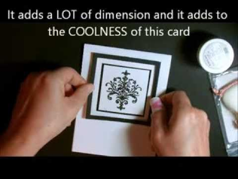 ▶ Outrageously Gorgeous Black and White Elegant Card with Deb Valder - YouTube