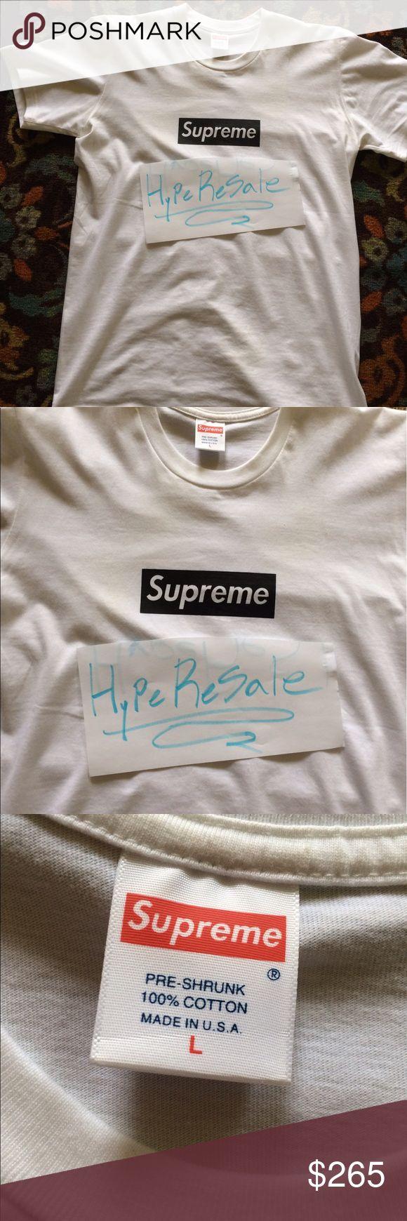 Supreme Paris Relief BOGO Box Logo Tee 100 Authentic kept