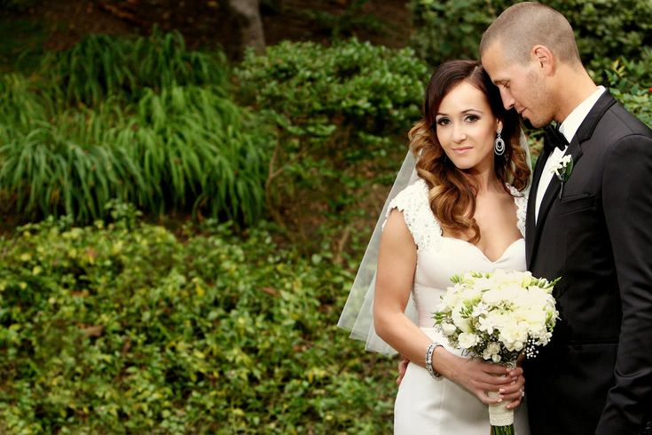 """Ashley Hebert and J.P. Rosenbaum found love on ABC's reality television series, """"The Bachelorette."""" They were married in Pasadena a year and a half after the groom proposed in Fiji. #WeddingPhotography Photography: Bob & Dawn Davis Photography. Read More: http://www.insideweddings.com/weddings/ashley-hebert-and-jp-rosenbaum/438/"""