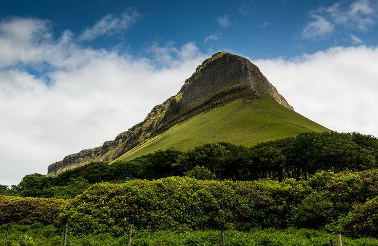 Three views of Ben Bulben mountain, near Sligo, Ireland. @Tom Bartel