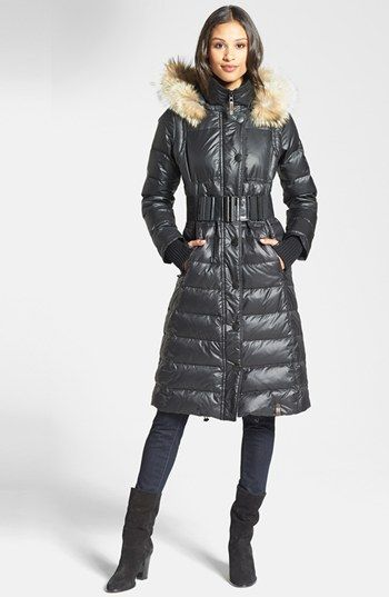 Rudsak 'Genie' Hooded Down Coat with Genuine Coyote Fur Trim available at #Nordstrom