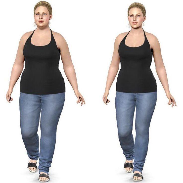 """Links noch mit 215 kg mehr und rechts so wie ich """"angeblich"""" aktuell aussehen soll. Das kommt dem schon sehr nah  Da ich kaum Körperbilder von früher habe nehme ich die """"Model My Diet App"""" gerne als Vergleich um mir hervorzurufen was ich schon geschafft hab  Im Moment geht es nur noch in Minischritten voran und ich bin froh über jede 100 g die ich abnehme. Dadurch dass ich vor über 2 Monaten von 0 auf 100 mit Sport angefangen habe war es sowieso schwierig weiter abzunehmen weil ich ja…"""