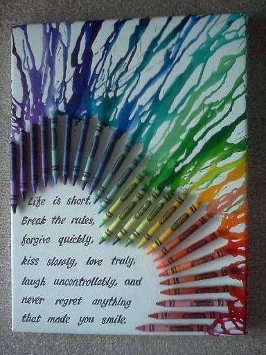 I need to make this. Crayon art. DIY.