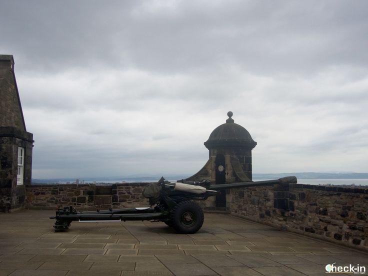 Il One O' Clock Gun nel Castello di Edimburgo, #scozia