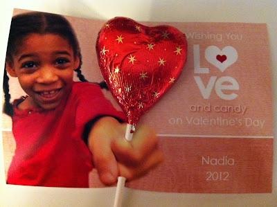 valentine card for child